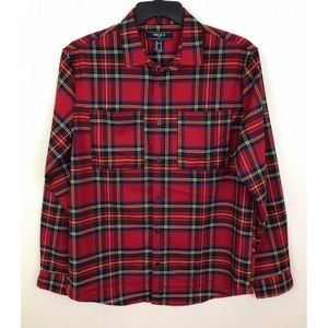 NWT Forever 21 Mens Plaid Flannel Button Down